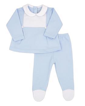 Rapife baby boys 2 piece with feet 4402-121 blue