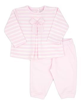 Rapife baby girls stripe jogsuit 4831-121 pink