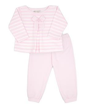 Rapife baby girls pink stripe jogsuit 4855-121