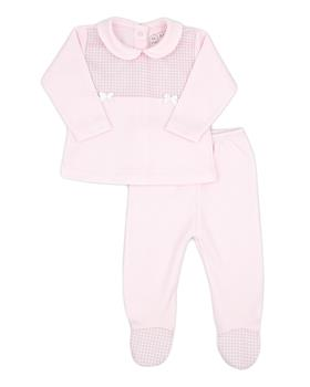 Rapife baby girls 2 piece with feet 4901-121 pink