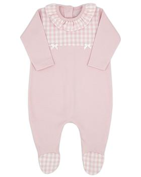 Dusky pink Rapife baby girls sleepsuit 5403-121