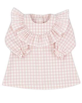 Rapife baby girls ruffle pink checkered dress 5415-121