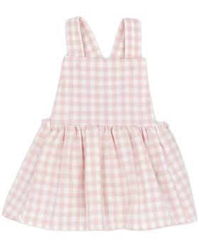 Pink Rapife girls body & dungaree pinafore 5421-5423-121