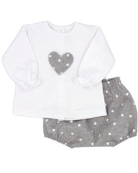 Grey Rapife girls long sleeve star short set 5282-121
