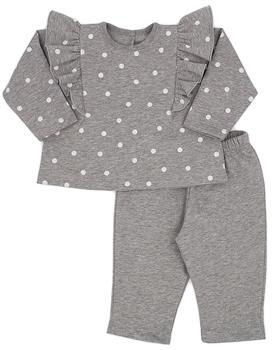 Grey Rapife baby girls ruffle spot jog suit 5284-121