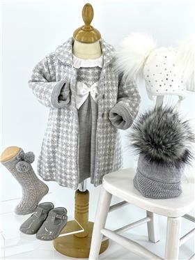 Grey Sardon girls knitted winter dress & coat 021MC-155