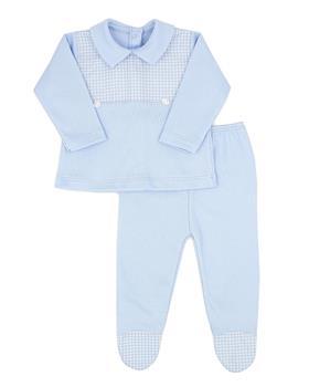 Rapife baby boys 2 piece with feet 4902-121 blue