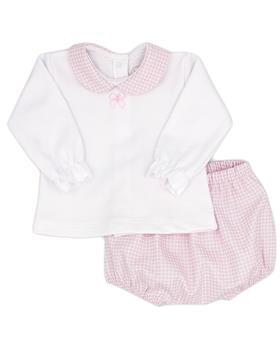 Rapife baby girls long sleeve short set 4913-121 pink