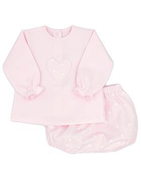 Rapife girls long sleeve star short set 5282-121 pink
