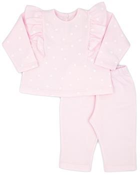 Rapife baby girls ruffle spot jogsuit 5284-121 pink