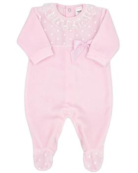 Rapife baby girls velour babygrow 6030-121  pink