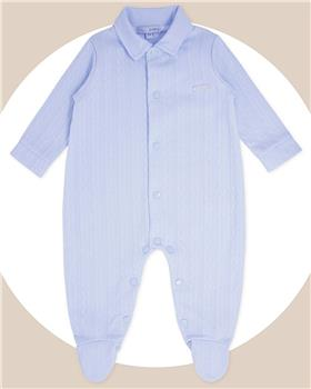Bluesbaby baby boys cable jacquard sleepsuit BB0188-121 blue