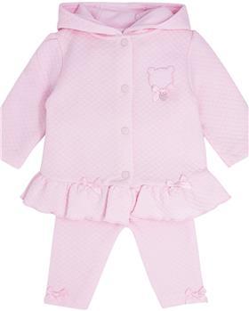 Bluesbaby baby girls jacquard jog suit BB0232-121 pink
