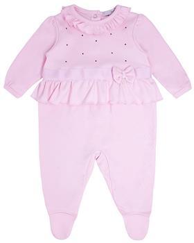 Bluesbaby baby girls velour sleepsuit BB0222-121 pink