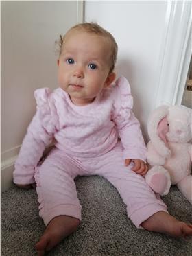 Bluesbaby girls bubble top & pants BB0219 pink