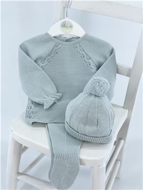 Macilusion baby boys top - footsie & hat 8206-121 green