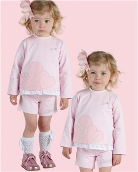Little A Dee jumper & shorts LW21501 Ariana Pink