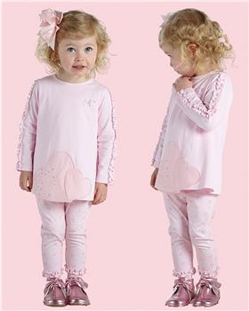 Little A Dee heart top & leggings LW21504 Athena pink