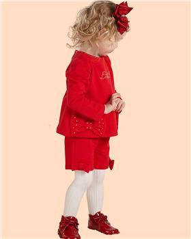 Little A Dee jumper & shorts LW21510 Blake Red