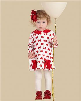 Little A Dee bow & heart dress LW21711 Bianca