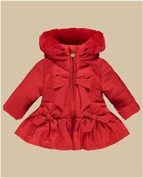 Little A Dee bow coat LW21211 Bella Red