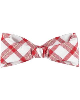 Little A Dee check bow headband LW21914 Brittany