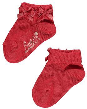 Little A Dee frill ankle sock LW21912 Bridget Red