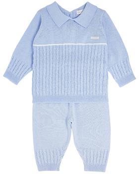 Bluesbaby boys cable knit jumper & pants BB0065-021 blue