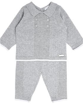 Bluesbaby boys grey marl knit jumper & pants BB0087 grey