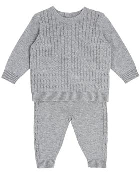 Bluesbaby boys all over cable knit jumper & pant BB0129-021 grey