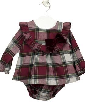 Babidu baby girls tartan dress 43511-121