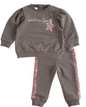 I Do girls glitter star jogsuit 43559-021 grey