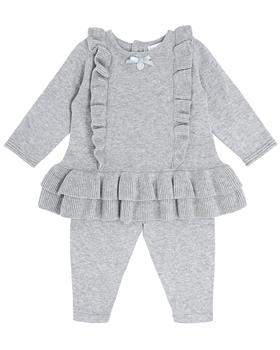 Bluesbaby girl knit frill top & pants BB0135-021 grey