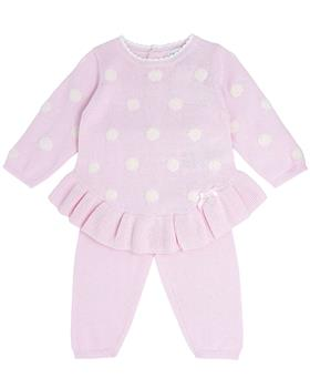 Bluesbaby girls spot knit jumper & leggings BB0139-021 pink
