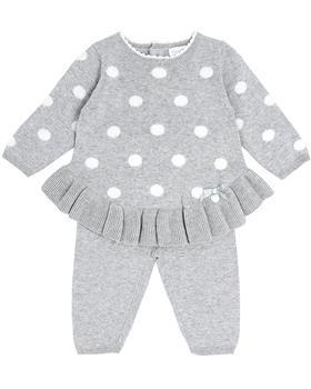 Bluesbaby girls spot knit jumper & leggings BB0140-021 grey