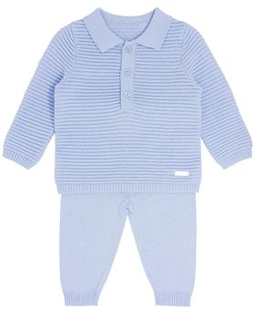 Bluesbaby boy fine knit jumper & pant BB0118-021 blue