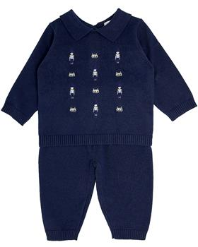 Bluesbaby boys knitted soldier jumper & pants BB0092-021 navy