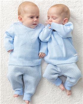 Bluesbaby boy star knit jumper & pant BB0132-021 blue