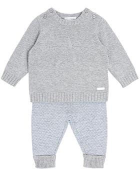 Bluesbaby boy star knit jumper & pant BB0133-021 grey