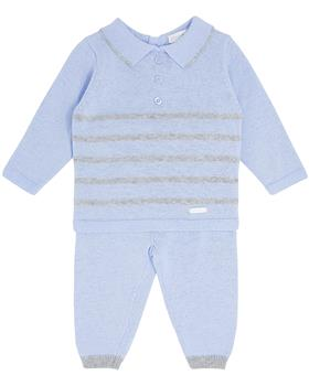 Bluesbaby boy stripe knit jumper & pant BB0122-021 blue