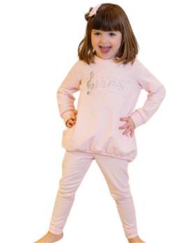 Daga girls treble clef tunic top & legging M8487-8488-021