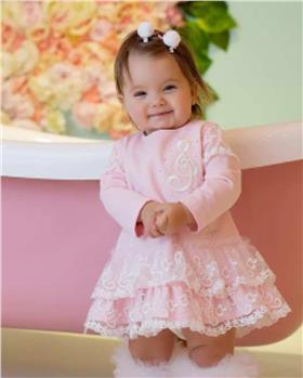 Daga girls treble clef music dress M8481 pink