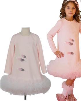Daga girls feather dress M8495 pink