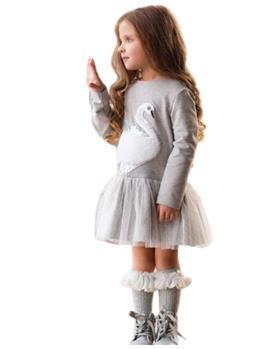 Daga girls grey swan dress M8507 grey