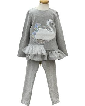 Daga girls swan top  & legging M8508-8504A grey