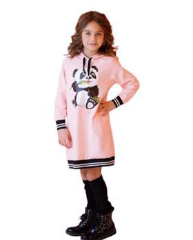 Daga girls panda hoody dress M8460 pink