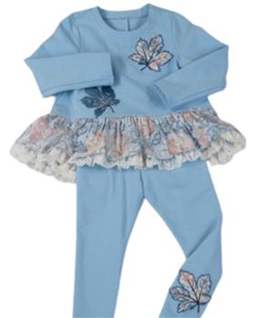 Daga blue leaf tunic top & legging M8478-8479-021