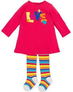 Agatha Ruiz girls LOVE dress & stripe tights 3224-021