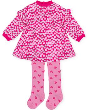 Agatha Ruiz girls raindrop dress & heart tights 3320-021