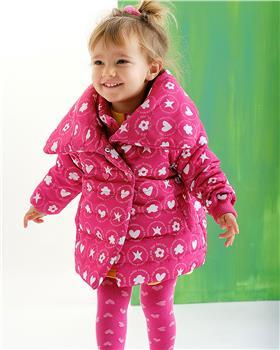 Agatha Ruiz girls  Fuscia puffa coat 3723-021
